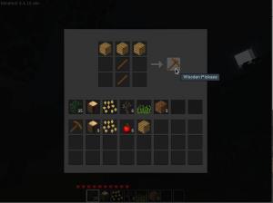 Minetest - fabriquer une  pioche en bois
