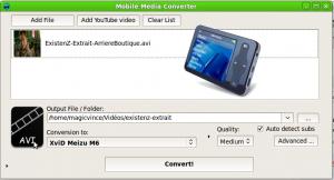 Créer un profil de codage pour le Meizu6