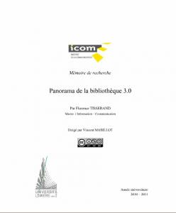 Panorama de la bibliothèque 3.0 (Mémoire) - Florence Tisserand
