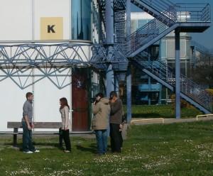 Tournage Colibre à l'université Lyon2 (printemps 2011)