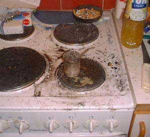 """Mélange """"nucléaire"""" sur une cuisinière"""