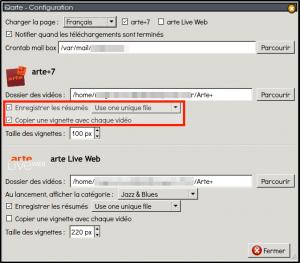qarte1.9.0 nouvelles options