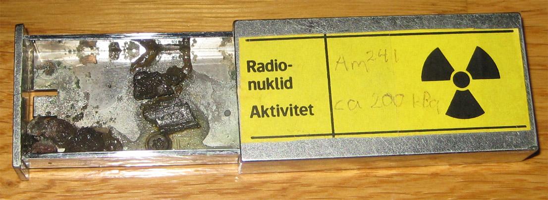 Mélange de Americanium, de Beryllium et de Radium